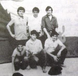 Part del Grup d'esplai FOCS i OLLES, c.1980 - Miquel Romaguera de ca na PEPA, Damià Perelló, Biel Massot de cas METGE - Bernat Reyes de sa BASSA, Toni Mesquida de can MONJO, Bernat Palou des TANCAT