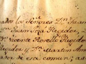 Acta d'un ple, de l'Arxiu Municipal de Marratxí