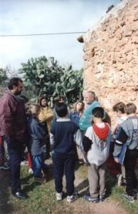 Visita guiada a can Palou, Xesc Tomàs, Isabel i Guillem