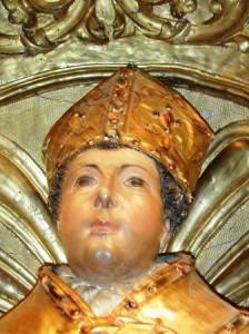 Sant Marçal. Detall de l'escultura del sant