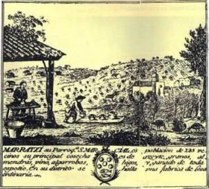 Vinyeta sobre Marratxí del mapa del cardenal Despuig