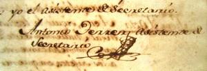 Signatura d'Antoni Ferrer