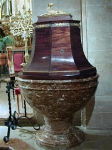 Sant Marçal . Font baptismal